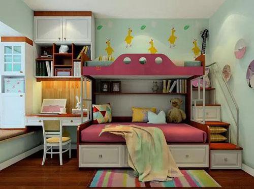 儿童房间装修效果图女孩:浪漫童话